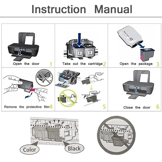 ciajie Remanufacturado HP 60 X L Compatible impermeable cartucho ...