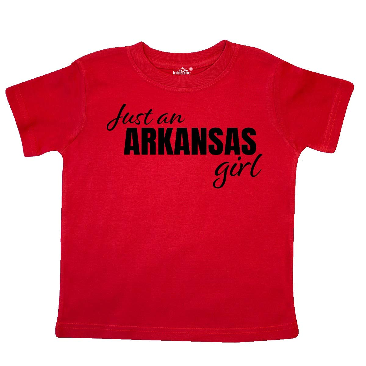 inktastic Just an Arkansas Girl Born and Raised Toddler T-Shirt