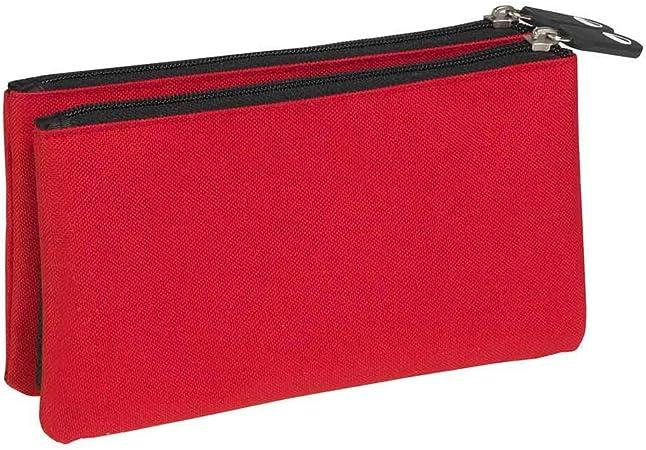 Dis2 - Estuche escolar triple ducati rojo: Amazon.es: Oficina y papelería