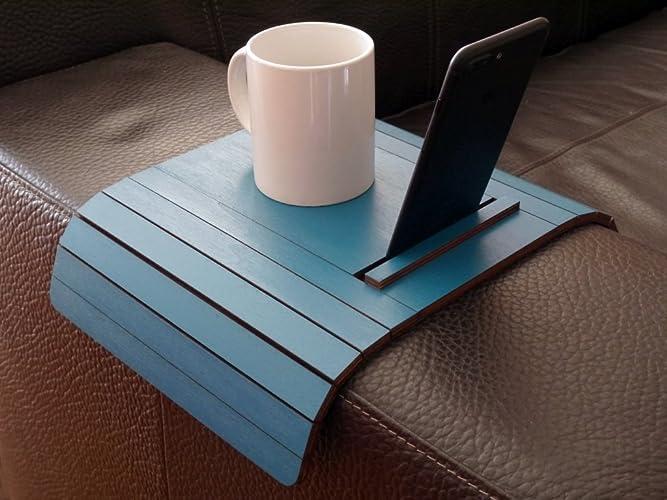 Salotto Verde Petrolio : Tavolino da bracciolo divano salotto con supporto iphone e tablet 20