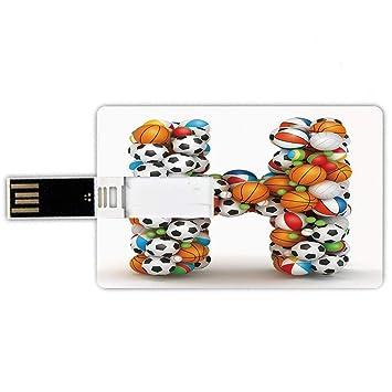 8GB Forma de tarjeta de crédito de unidades flash USB Letra h ...