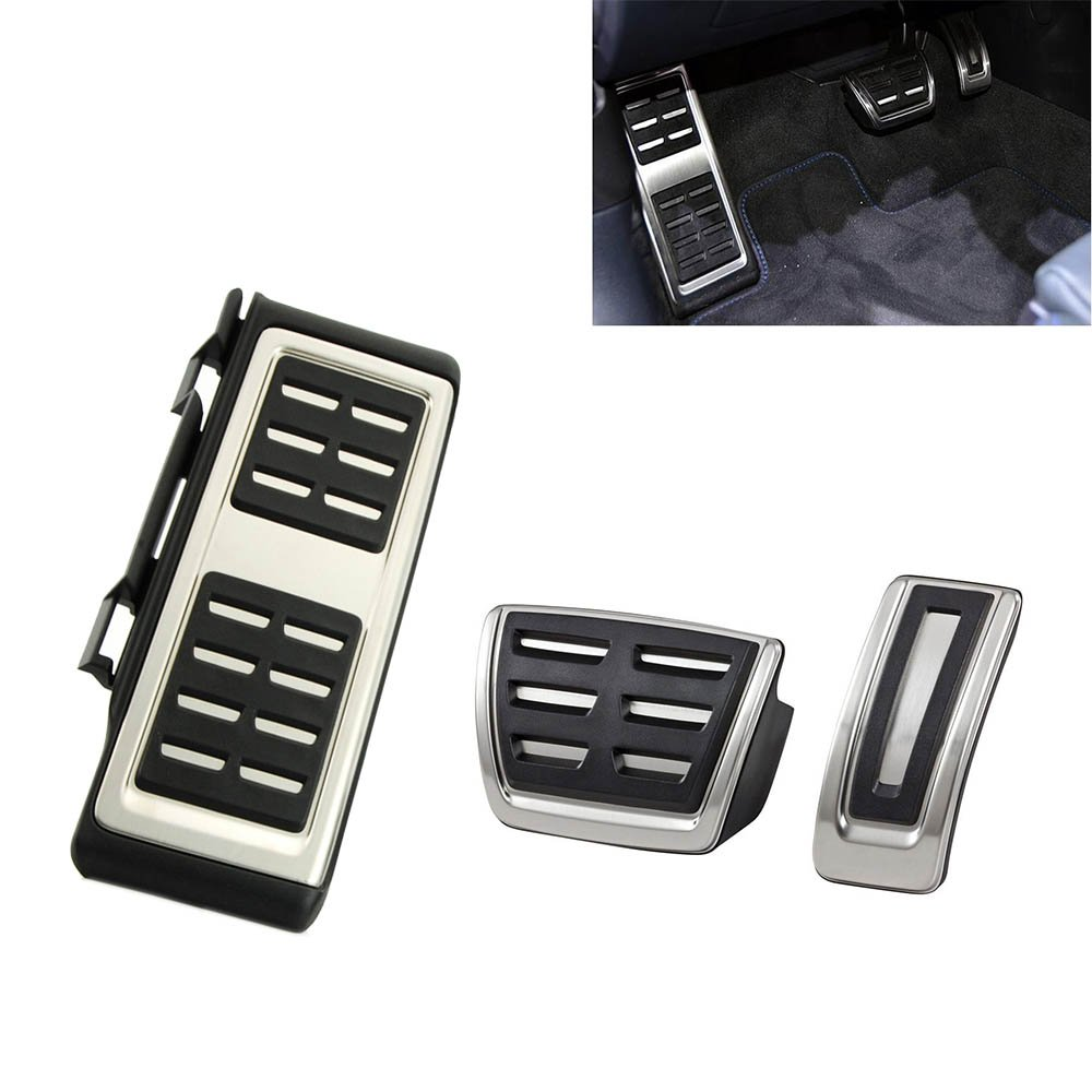 Stainless Steel Foot Rest Pedal Accelerator Brake for A3 8 V S3 RS3