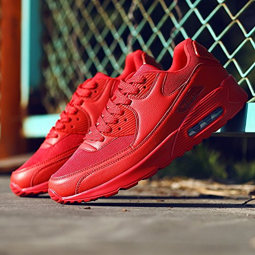Hommes Plein Coussin Course Laamei Chaussures Air Rouge a De Pc Sneakers 1 Femelle Jogging En nqAa8