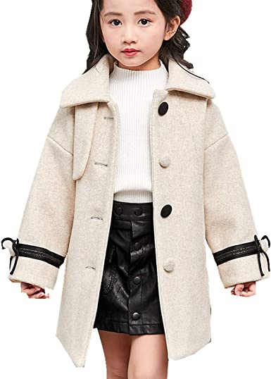 Kids Cloak Girls Boys Autumn Winter Wool Hooded Wraps Shawl Outerwear