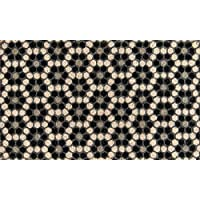 Novogratz Aloha Collection Black Hex Tile Doormat, 16 x 26, Black