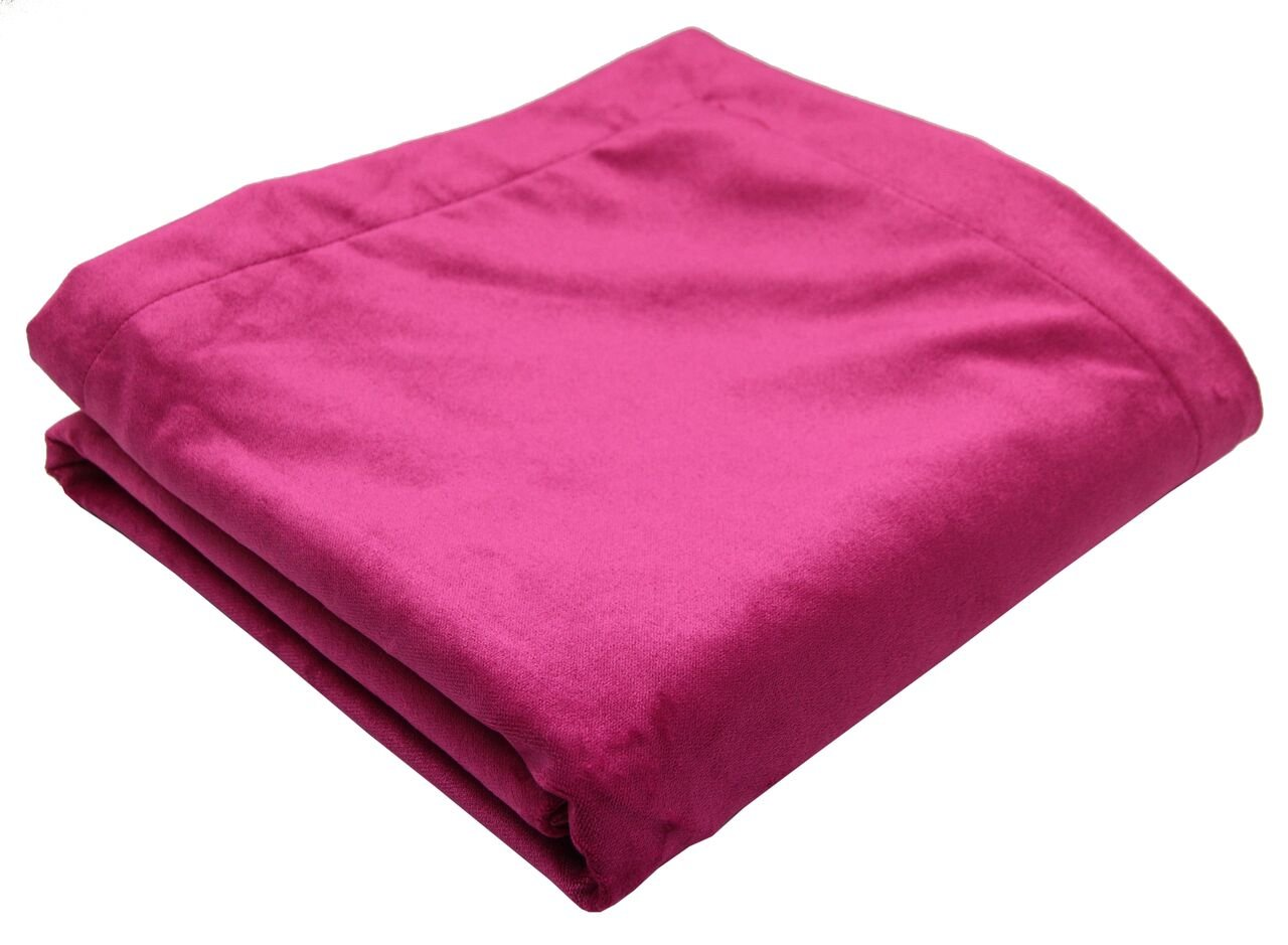 McAlister Matt Velvet | Decorative Twin Bed Throw Blanket | 65x50 Fuchsia Magenta Pink | Lush, Plush & Soft Classic Modern Accent Décor