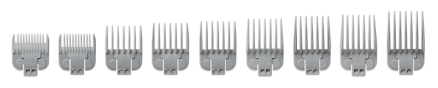 Andis pro 9pc snap-on blade attachment comb set, 1 Count 66350