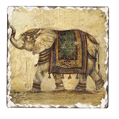 Counter Tumbled Coasters Elegant Elephant