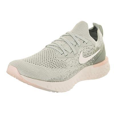 Nike Women's Epic React Flyknit Running Shoe 9 Grey   Road Running