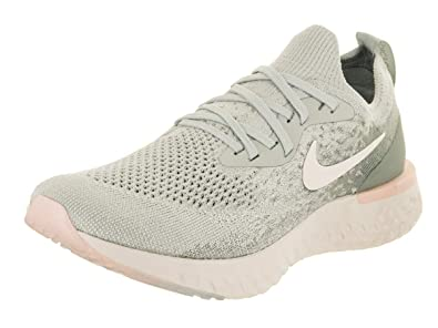 a0fe510ec6a6 Nike Women s Epic React Flyknit Light Silver Sail Mica Green Running Shoe  6.5 Women