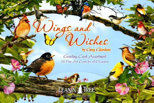 Leanin' Tree Bird Greeting Cards - Wings and Wishes by Greg Giordano [AST90762] - 20 Greeting Cards with Full-color - Wishes Greeting Cards Best