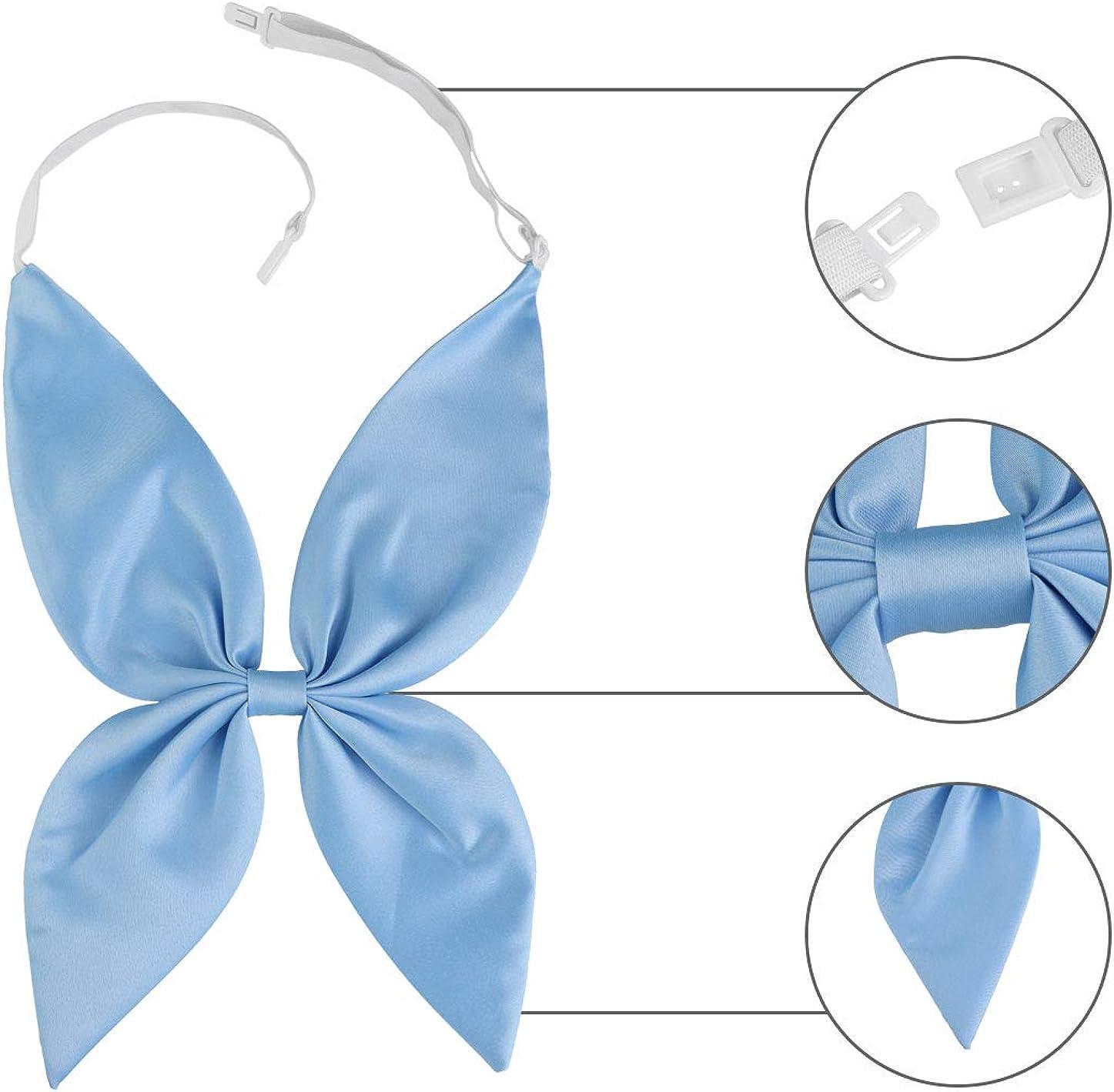 Allegra K Damen Verstellbar Bowknot Fliege Einfarbig Krawatten