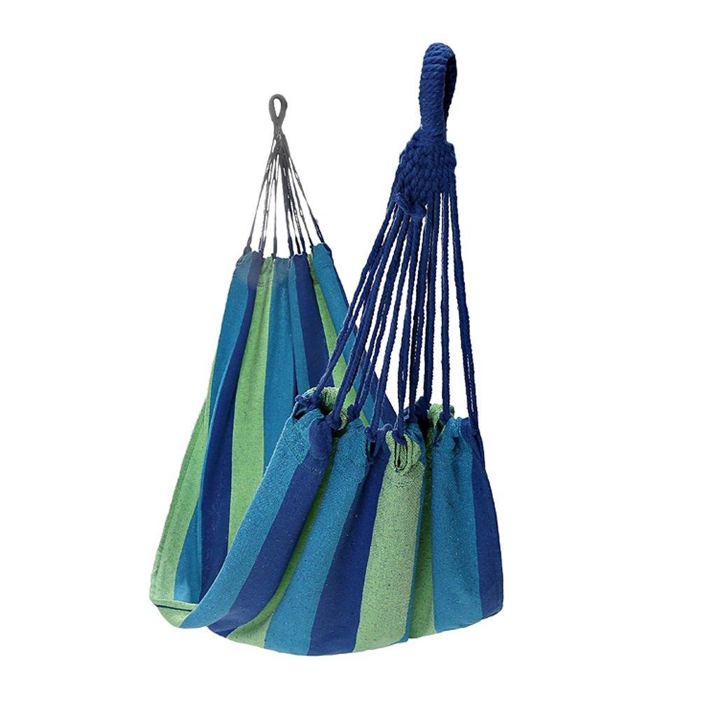 Hängematten Wddwarmhome Blau Portable Single Person Outdoor Camping Reise Polyester (200  80cm)
