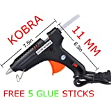 100W 100 WATT HOT MELT Glue Gun with ON Off Switch and LED Indicator -Free 5 HOT MELT Glue Sticks (Random-Assorted Color)