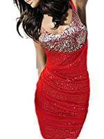 Robe de soiree QIYUN.Z Night Club Clubwear Bling paillettes Robe moulante gaine Soiree Cocktail