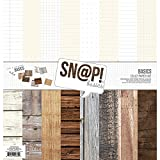 Simple Stories Snatp! Wood Grain Basics Paper Kit
