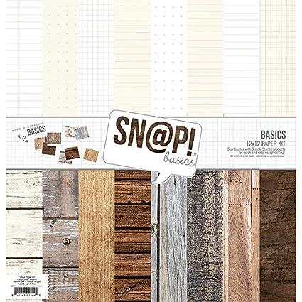 Wood Grain Basics Paper Kit