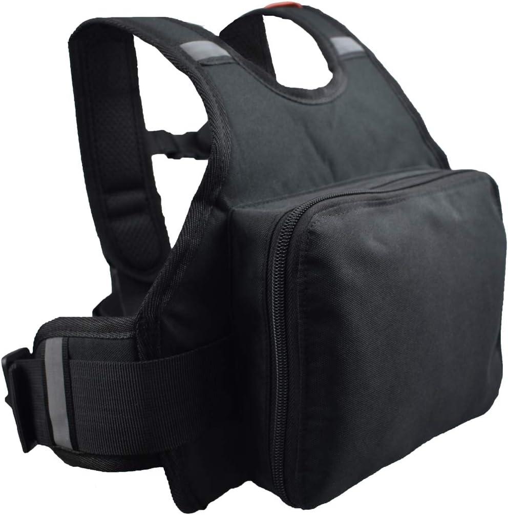 madbike Cinturón de seguridad para motocicleta para niños Arnés reflectante y plegable Correas de asiento negras