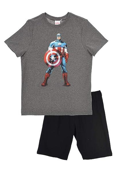 Marvel - Pijama - para Hombre Gris S