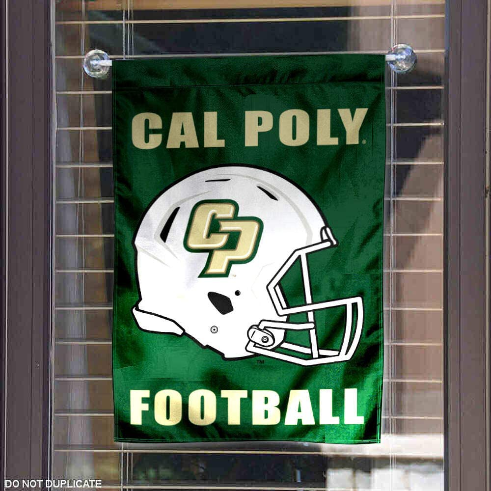 Amazon Com College Flags Banners Co Cal Poly Mustangs Football Helmet Garden Yard Flag Sports Outdoors