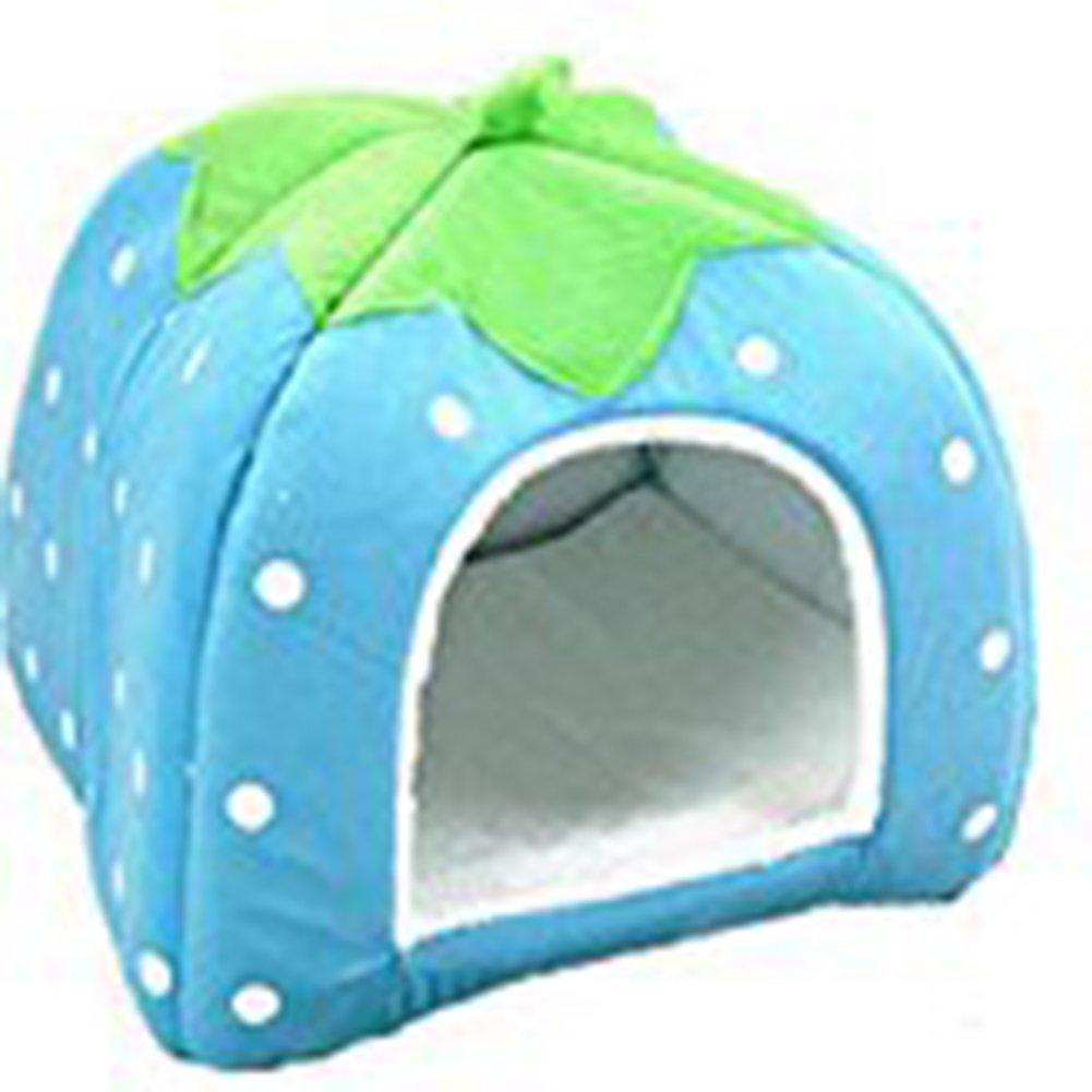 Panier avec coussin pour animaux de compagnie, petit chien ou chat Motif de fruit 26 x 26 cm YXYP