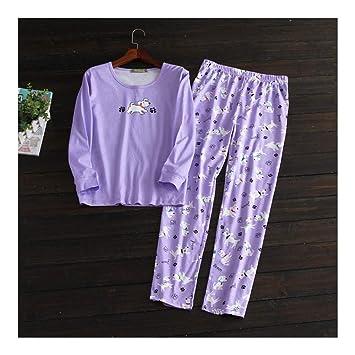 HAOLIEQUAN Lindos Gatos Pijama De Algodón Conjuntos Mujeres Primavera Manga Larga Ropa De Dormir Cómoda Pijama Mujeres: Amazon.es: Deportes y aire libre