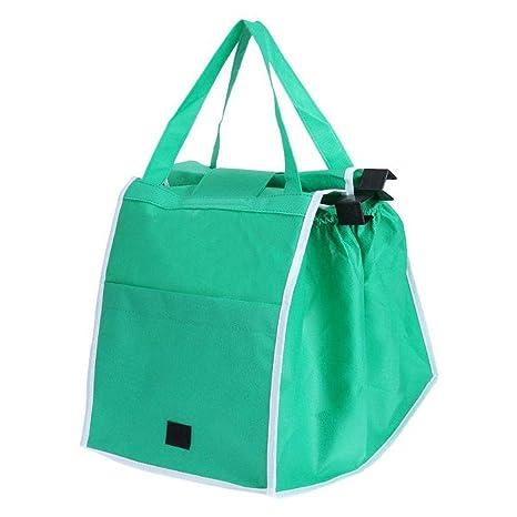 Amazon.com: Bolsa de la compra plegable, verde, creativa y ...