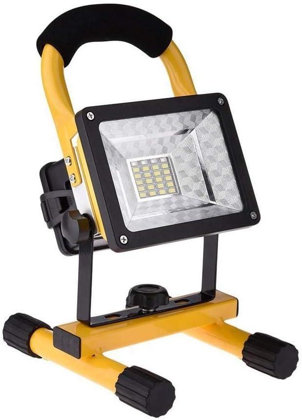Super Lumineuse Lampe de Travail Rechargeable,DINOWIN 30W Projecteur Chantier LED Floodlight Torche Lampe,Etanche IP65,Lampe de Travail Pour Travaux