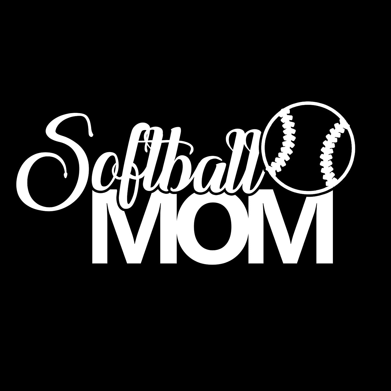 Softball Mom Sports Vinyl 6 Inch Decal
