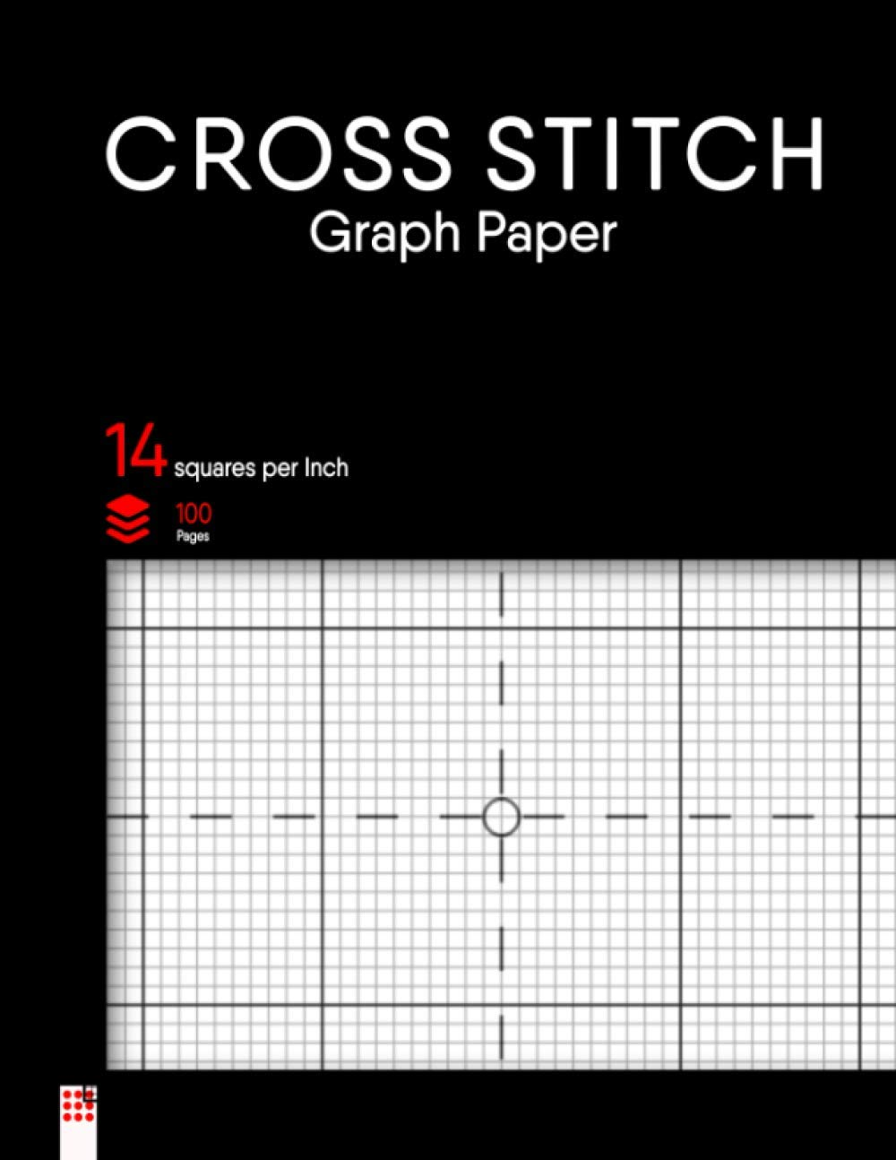 Cross Stitch Graph Paper Notebook: Cross sewing in 14 squares Per inch grid. The 14 traces in line with inch chart makes it simple to create easy or complicated Embroidery paterns & Needlework designs. Din A4