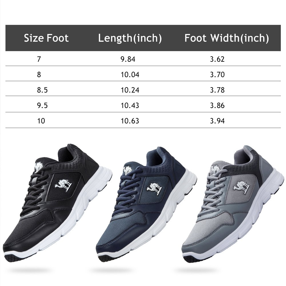 Camel Tennis Shoes for Men Trail Running Shoes Comfortable Breathable Walking Shoe Fashion Casual Sneakers for Gym Sport(Blue,8 US)