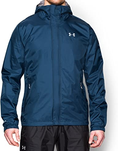 Under Armour Mens Bora Outdoor Jacket Top Grey Sports Outdoors Full Zip Hooded