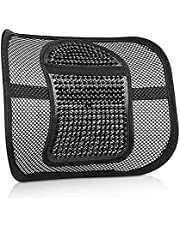 ASTOTSELL Back Support Cushion, Chair Mesh Lumbar Support Back Seat Cushion with Elastic Strap for Car Seat Home Office Chair Relieve Back Sciatica and Tailbone Pain