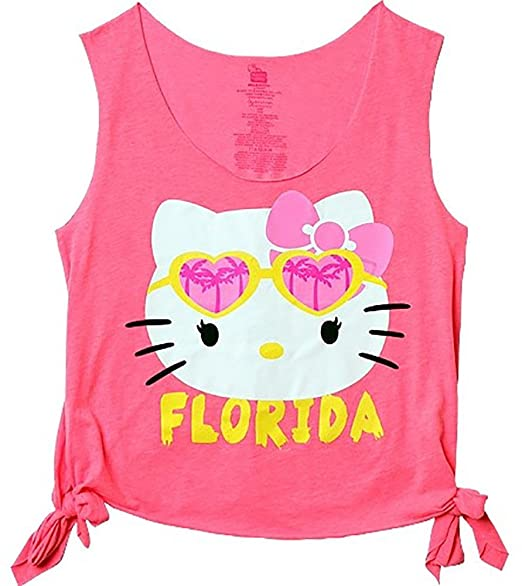 ec66a8237 Hello Kitty Florida Too Cool Juniors Summer Beach Tank T-Shirt Womens',  Adult
