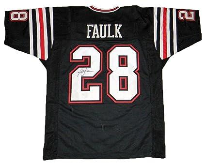 brand new 73824 53c79 Autographed Marshall Faulk Jersey - #28 Black - JSA ...