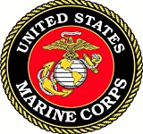 1 Pc Distinguished Fashionable United States Marine Corps Navy Stickers Sign Doors Home Windows Size 5