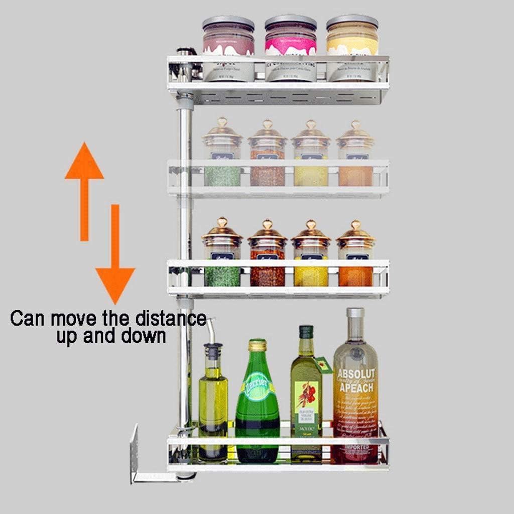 CHX Stainless Steel Kitchen Rack Wall-mounted Multi-function Seasoning Seasoning Shelf Kitchen Storage Supplies CHXSF