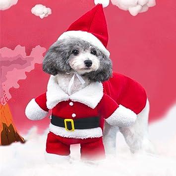 Herbst Winter Hunde Bekleidung Hund Kost/üm Kleidung Haustier Hund Katze Weihnachten Santa Anzug mit Claus Kappe