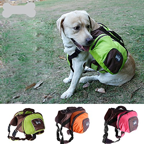 MagiDeal Dog Foldable Backpack Waterproof Portable Travel Outdoor Bag Pack Green M by MagiDeal (Image #9)