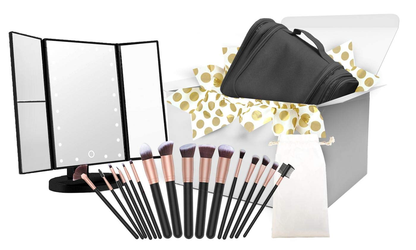 Amazon Com Makeup Brush Set Hanging Toiletry Bag Travel
