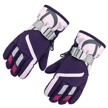 Boys Girls Waterproof Sports Mittens Cute Kids Winter Thicken Warm Ski Gloves Full Finger Outdoor Windproof Mittens For Children Apparel Accessories