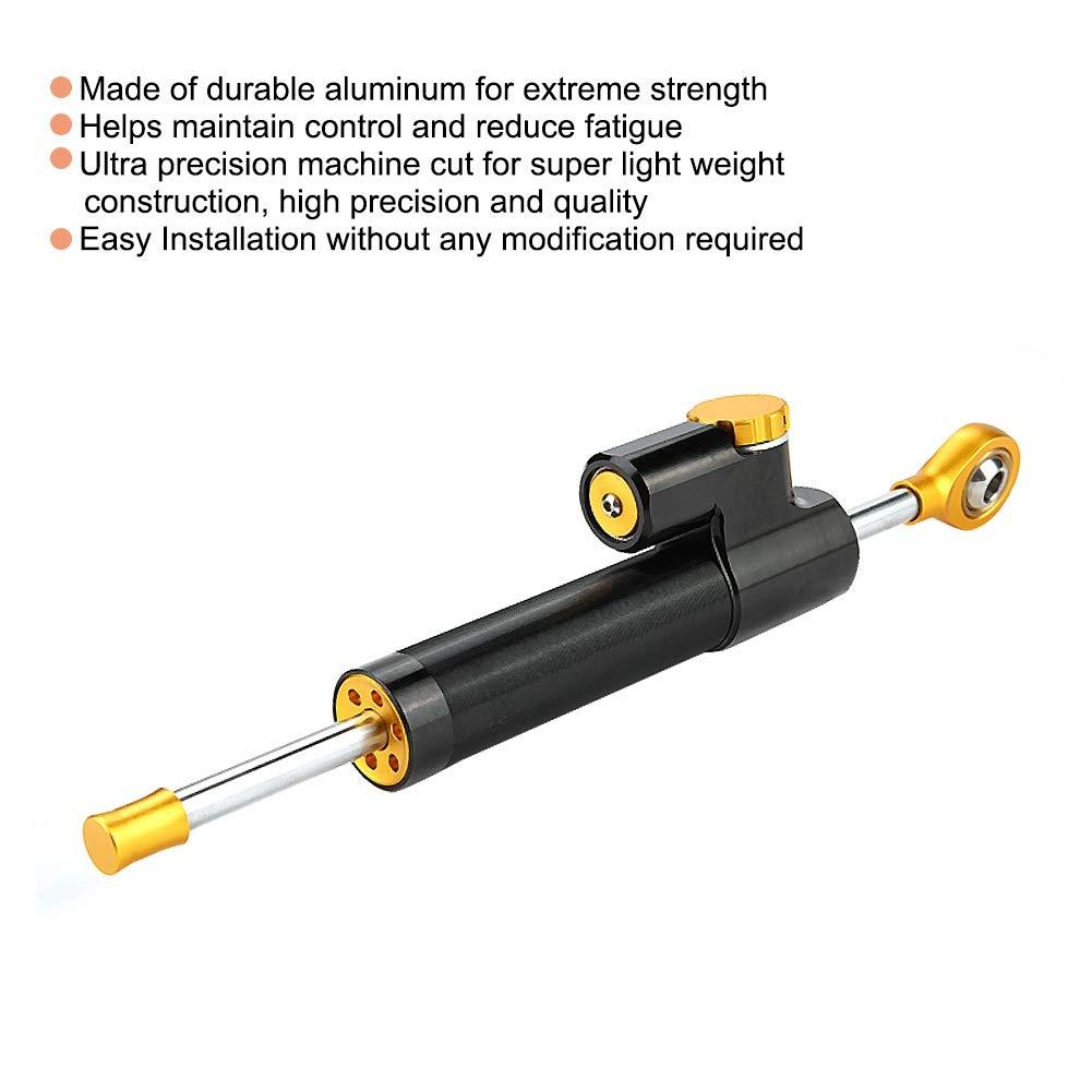 Ammortizzatore di sterzo stabilizzatore ammortizzatore di sterzo per moto in alluminio CNC Controllo di sicurezza a torsione lineare