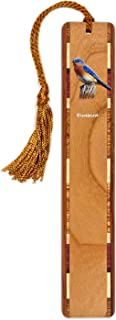 product image for Personalized Bluebird, Colorful (Double Sided) Wooden Bookmark with Tassel