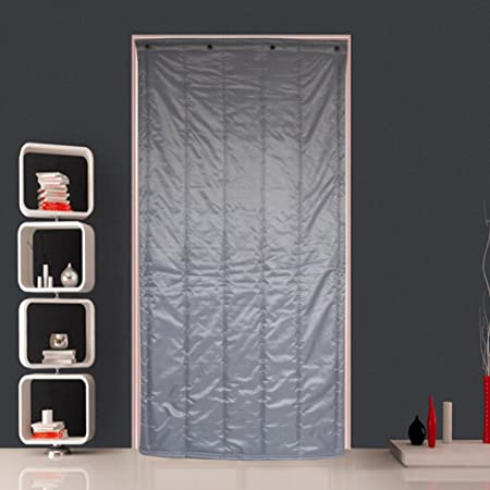 Cotton Curtain Thicken Winter Wind Proof Keep Warm Soundproof Cold Air Conditioner