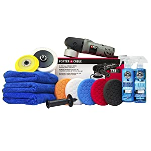 Chemical Guys BUF Porter Cable 7424XP Detailing Complete Detailing Kit with Pads, Backing Plate and Accessories (13 Items)