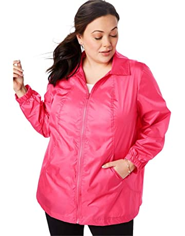 ac2aa6a8bc1f Woman Within Women s Plus Size Zip Front Nylon Jacket