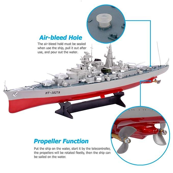 German Bismarck Military Battleship 1/360 RC 28