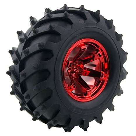 Truck Wheels And Tires >> Amazon Com 4pcs 1 10 Rc Monster Truck Wheel And Tire Set Lafeina