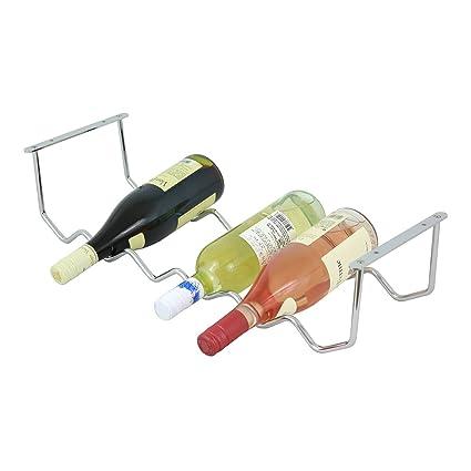 Amazon Com Oenophilia Under Cabinet Wine Rack 6 Bottle Home