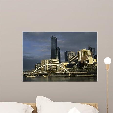Amazoncom Australia Melbourne City Skyline Wall Mural By